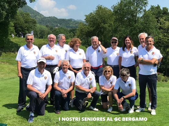 la squadra seniores al GC bergamo
